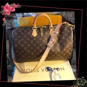 Louis Vuitton Monogram Speedy 40 Bandolier